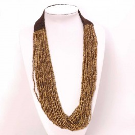 Collar croche multihilos bronce