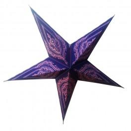 Lámpara Colgante Estrella Papel Cartón