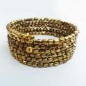 Brazalete multiaros dorado