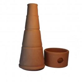 Incensario Barro - Chimenea Torre Cartuja - Quemador Incienso Grano