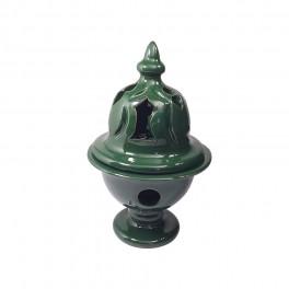 Incensario Mozárabe Cerámica Esmaltada | Verde Botella
