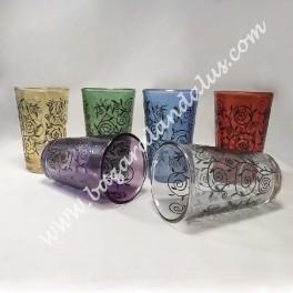 Vasos De Té Diseño Henna | Juego de 6 Vasos