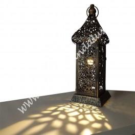 Farol Candil Diseño Minarete Árabe | Bronce Envejecido