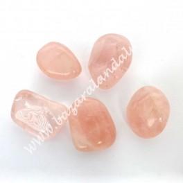 Cuarzo Rosa - Mineral Rodado de Cuarzo Rosa Mediano - Calidad Extra