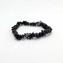 Turmalina Negra - Pulsera Chip Mineral Turmalina Negra