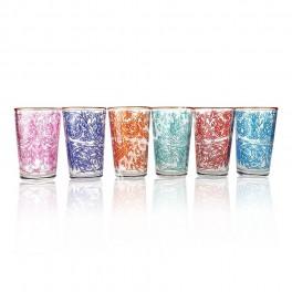 Vaso de Té Diseño Floral Árabe - Marroqui Colores