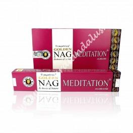Golden Nag Meditation Incienso Varilla - Vijayshree - Agarbathi