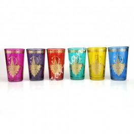 Vaso de Té Diseño Cruz Bereber - Marroqui Colores
