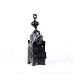 Portavelas Candil Forja Marroquí Color Negro