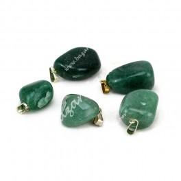 Colgante Cuarzo Verde - Mineral Natural Rodado