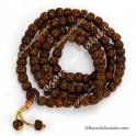 Rudraksha  Mala Tibetana - 108 Cuentas de 1 cm