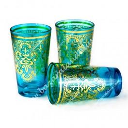 Vasos de Té Árabe Turquesa 2