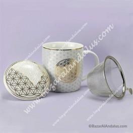 Taza de Porcelana China - Flor de la Vida
