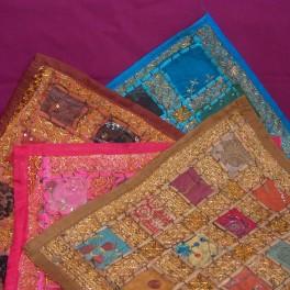 Funda cojin bordado artesano