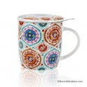 Taza Mandala Color - Porcelana China
