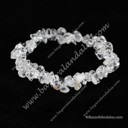 Cuarzo Blanco Transparente  - Pulsera Chip Mineral