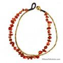 Tobillera Coralin Chip Rojo