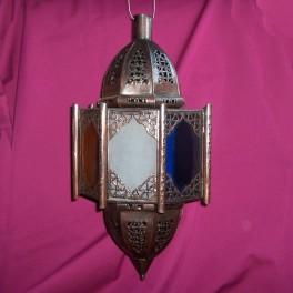 Lámpara de forja cristales de colores