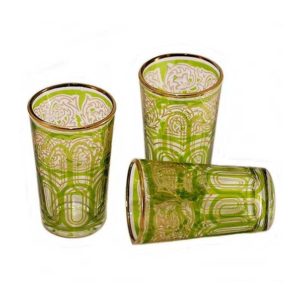 Comprar vasos de t dibujados decorados bazar al andalus for Vasos de te