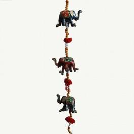Colgante Suerte Cinco Elefantes Cascabel Tres Tamaños