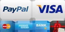 Aceptamos Pagos con PayPal y Visa